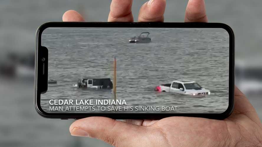 Indiana Family Drives Wrangler, Raptor Into Lake To Save Sinking Boat