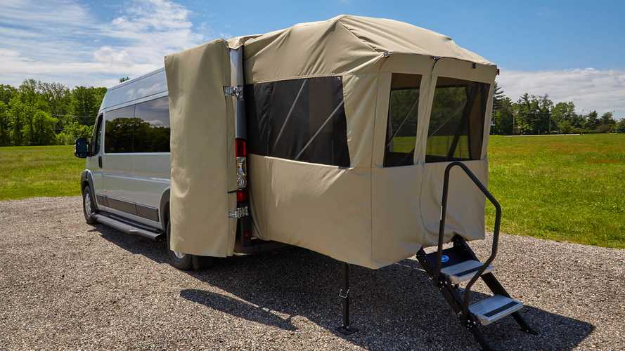 Embassy Traveler Sport Camper Van Expands Size With Rear-Mount Porch