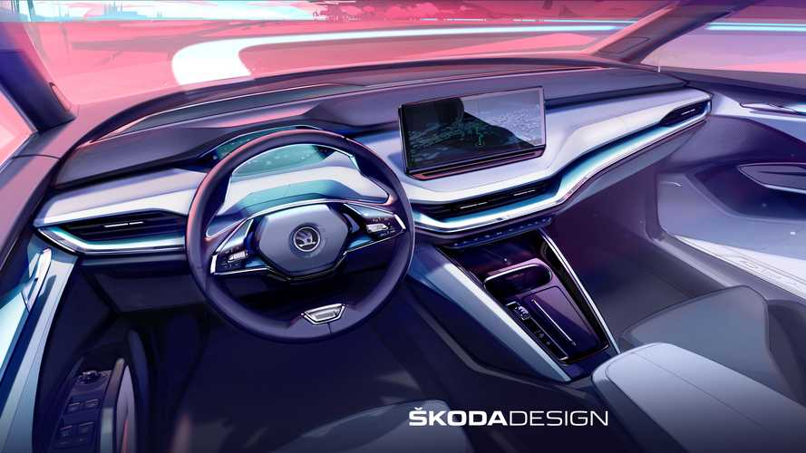 Skoda впервые показала салон электрокроссовера Enyaq iV