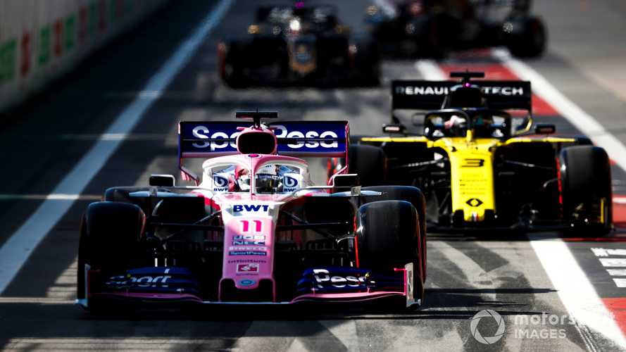 Sergio Perez leads Daniel Ricciardo at Brazilian GP 2019
