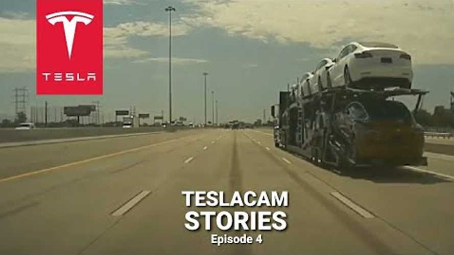 TeslaCam: Watch Semi Full Of Teslas Nearly Take Out Model 3, Plus More