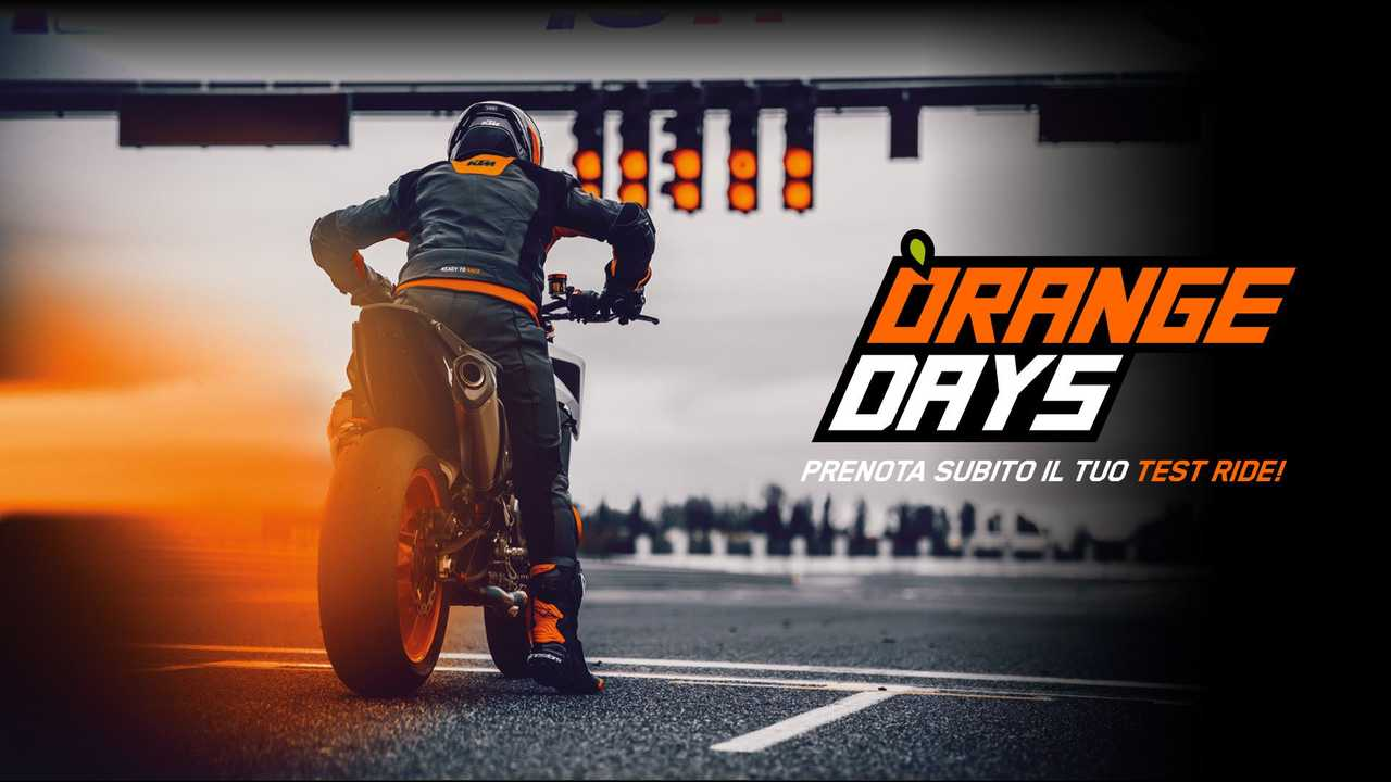 KTM Orange Days 2020, prenota il test ride