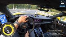 Porsche 911 Turbo S poussée à sa vitesse maximale