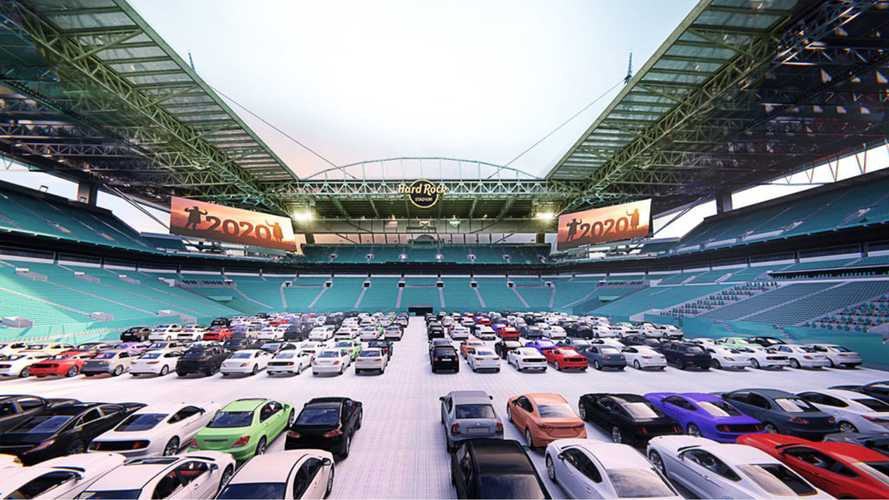 Miami Dolphins Stadium Hosting Drive-In Theater Right On The Field