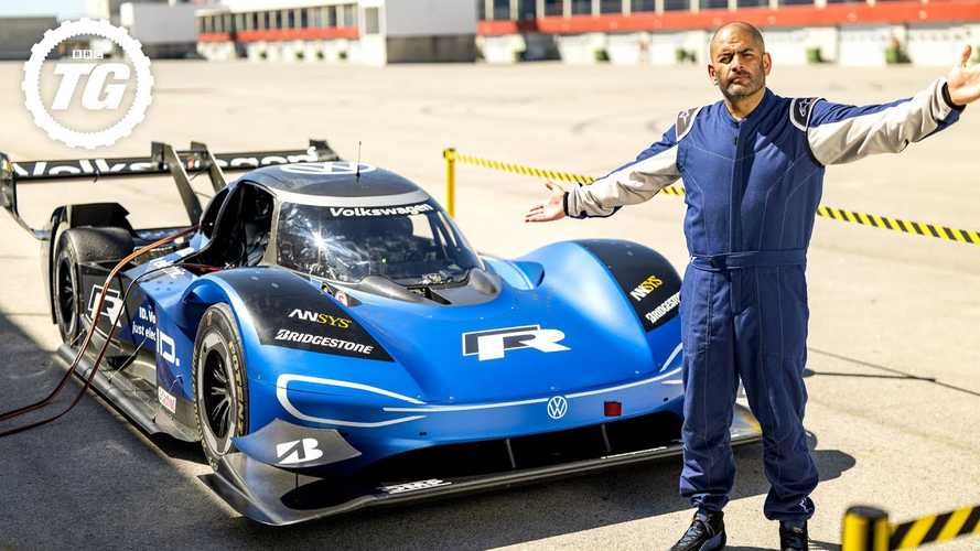 Chris Harris drives the bonkers Volkswagen ID R around a track and loves it