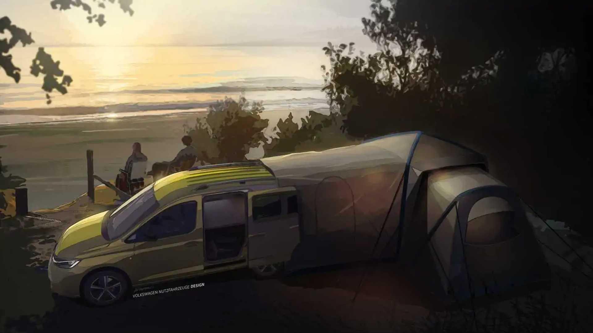 Volkswagen Caddy Mini Camper Teaser Kurulumu