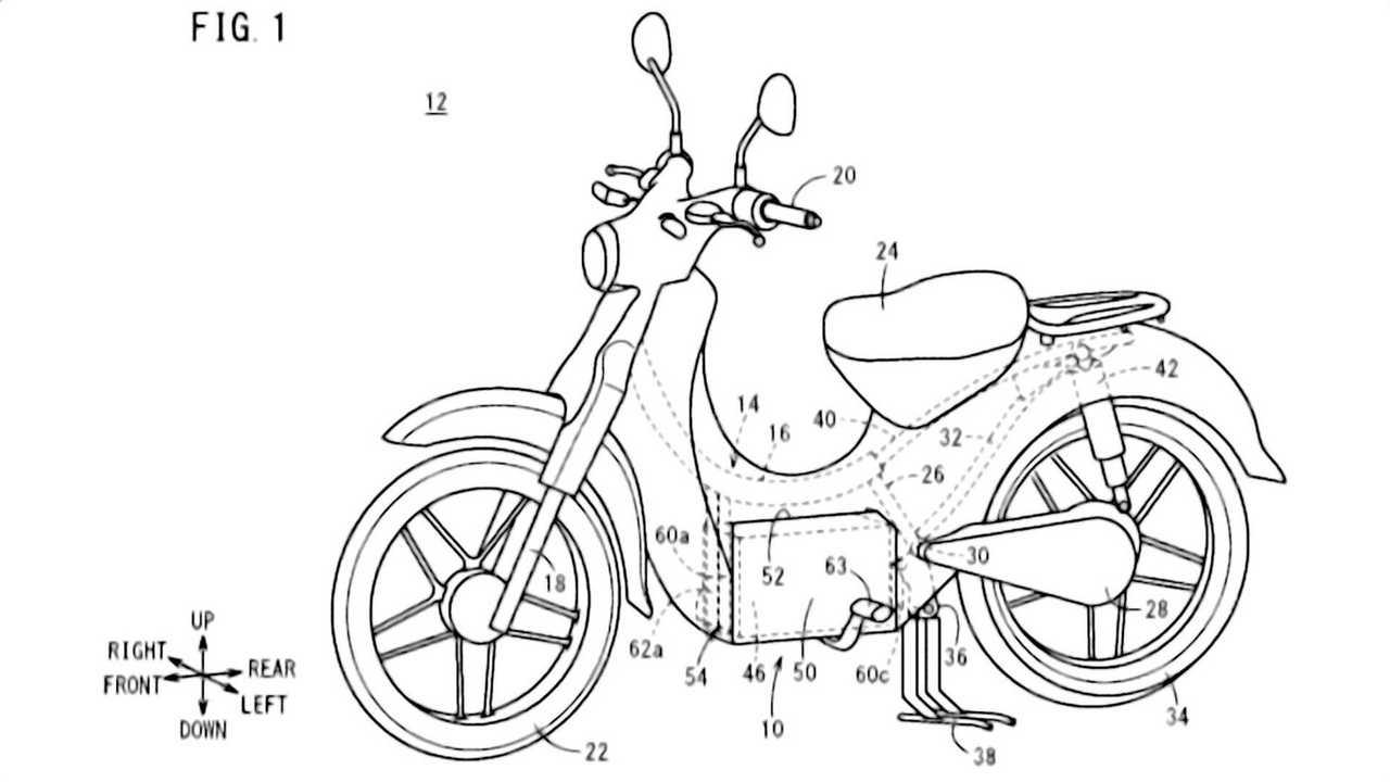 Honda Electric Super Cub Patent - Main View 2