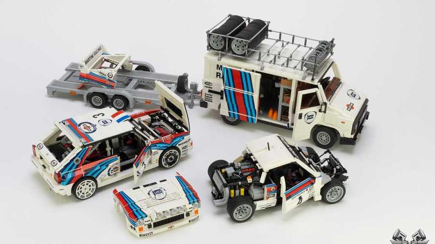 Lancia Delta e 037 Martini, un artista le ricrea con i Lego