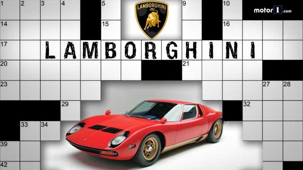Lamborghini, il cruciverba di Motor1.com