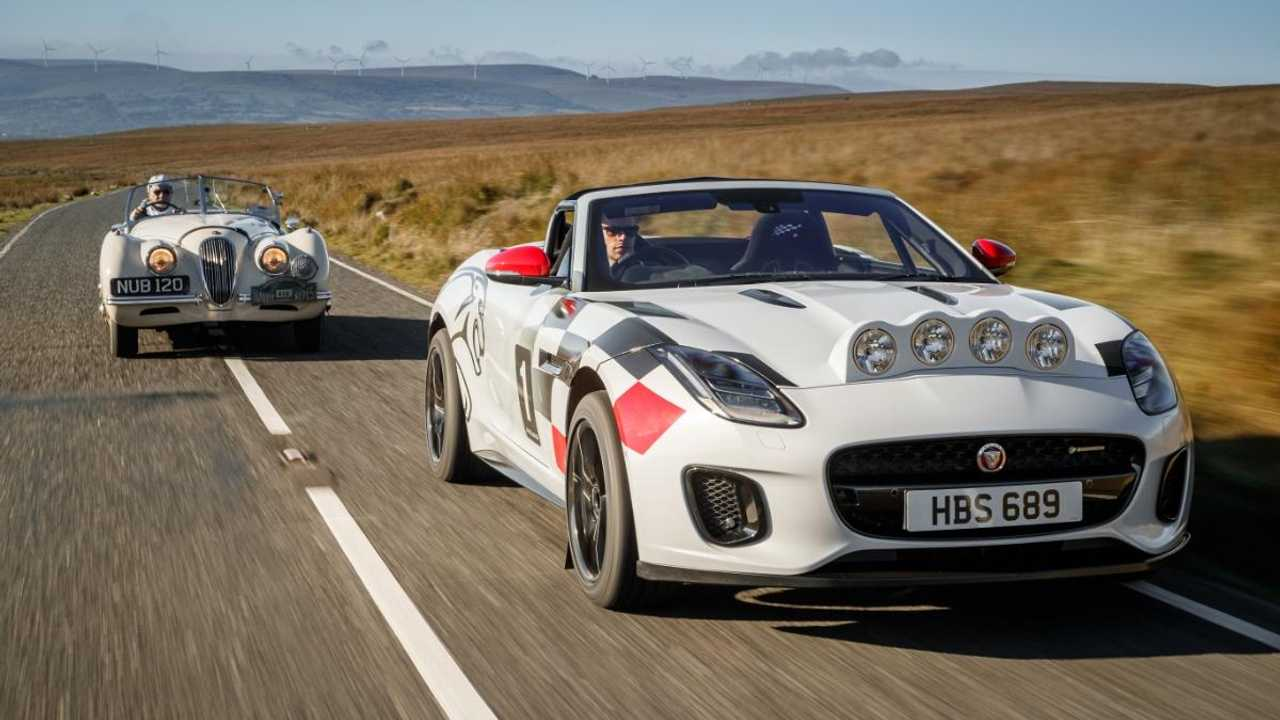 Jaguar F-type rally car pays homage to XK120