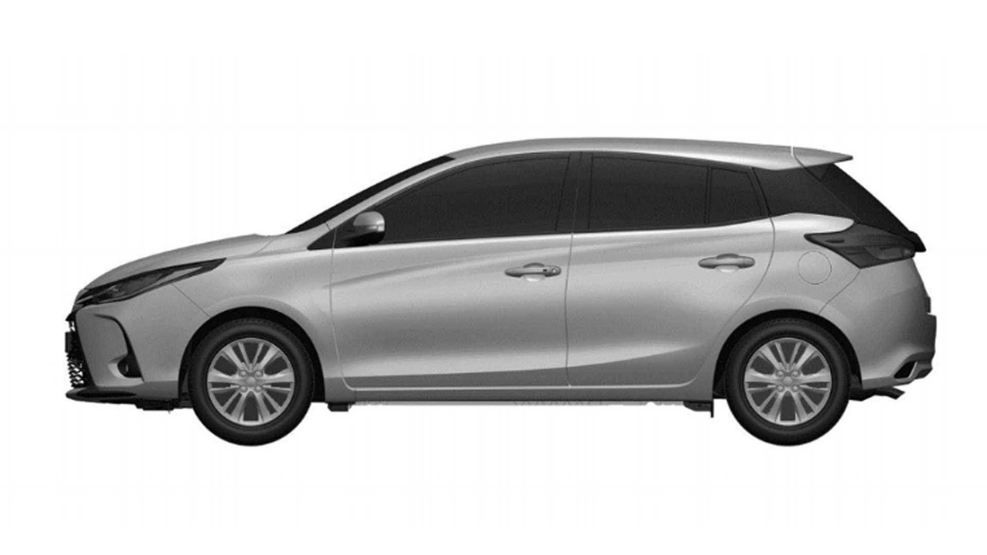 Toyota Yaris reestilizado - Registro na Argentina