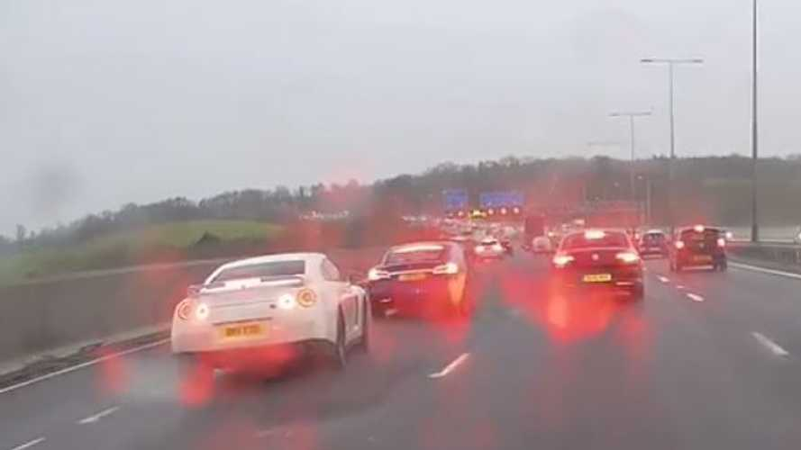 Dashcam Captures Tesla Model S Vs Nissan GT-R: Reckless Road Rage, Brake Checks