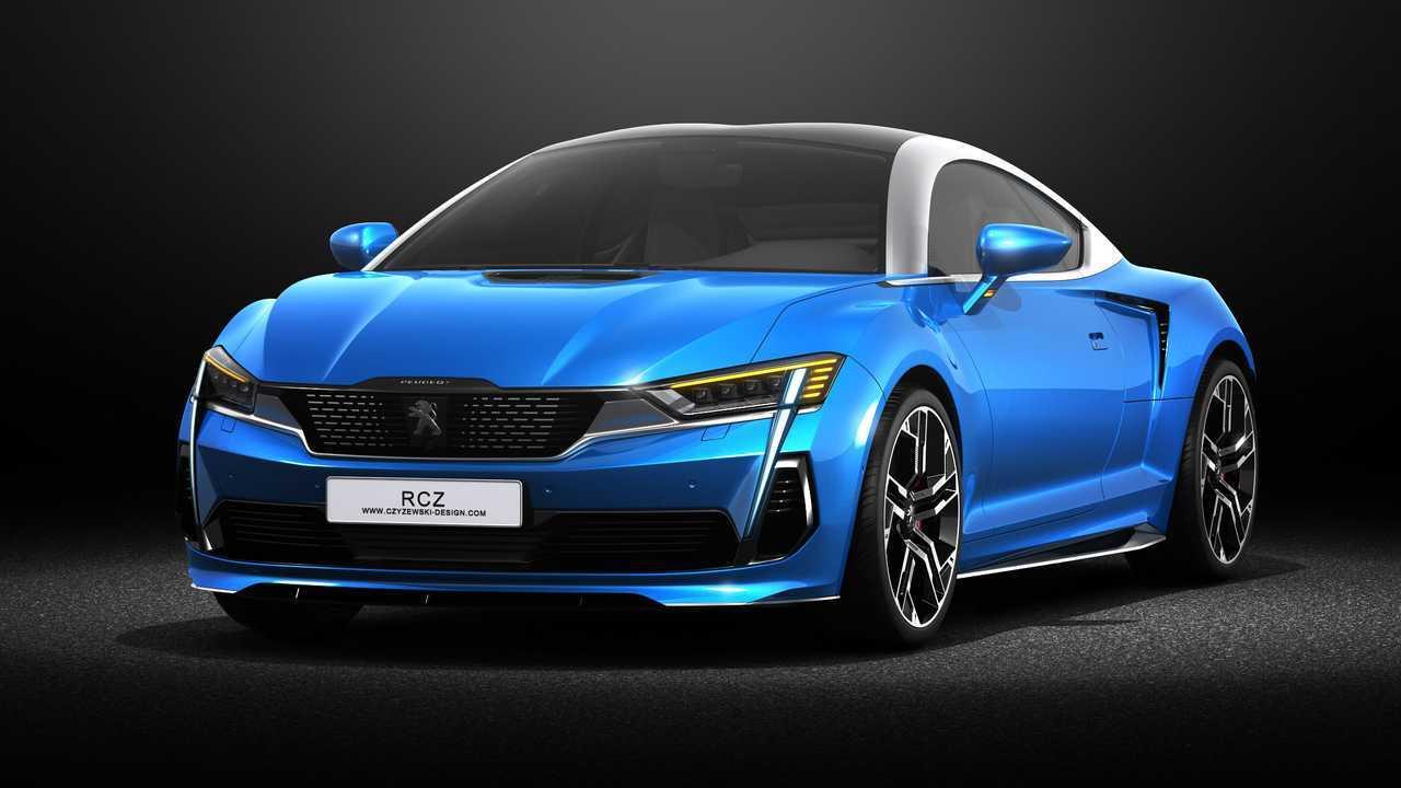 Неофициальные рендеры Peugeot RCZ 2020