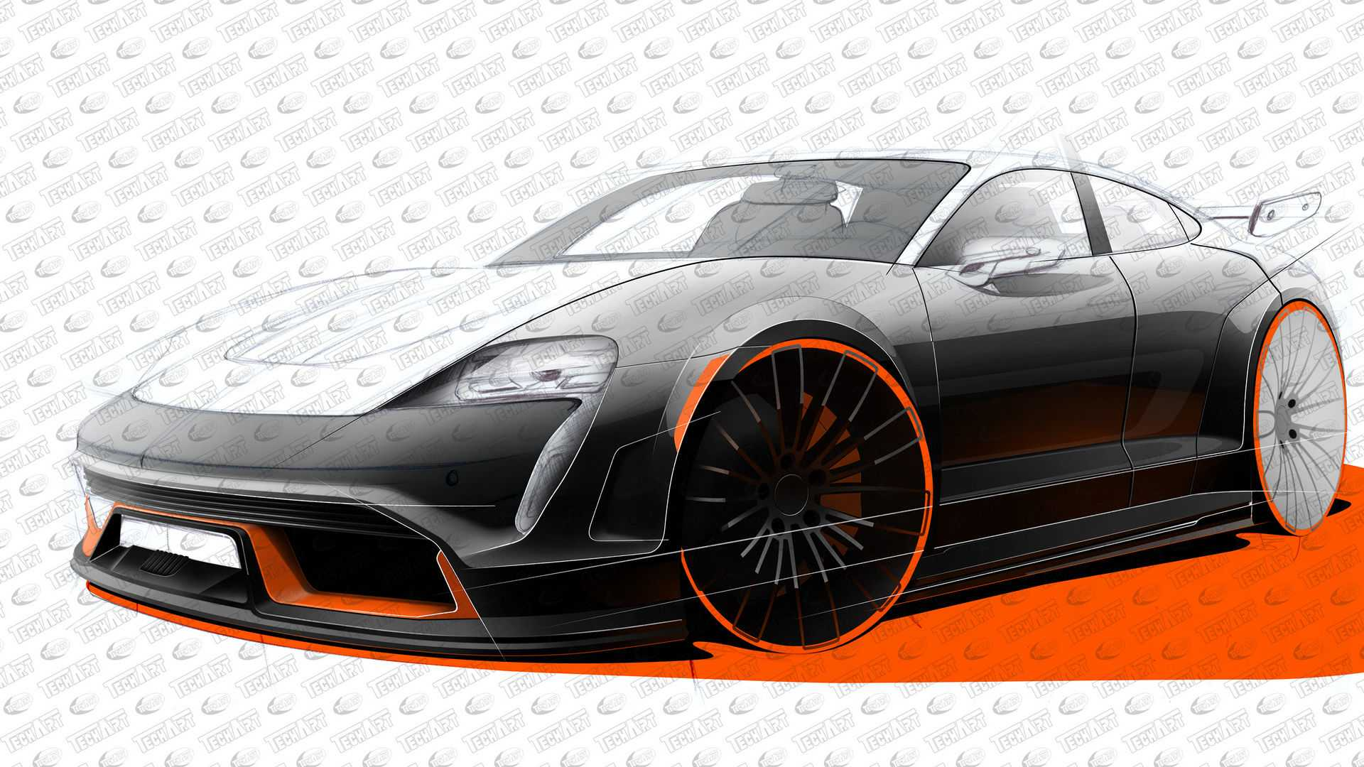 Techart Announces It S Working On The Porsche Taycan So Far Only Reveals Wheels