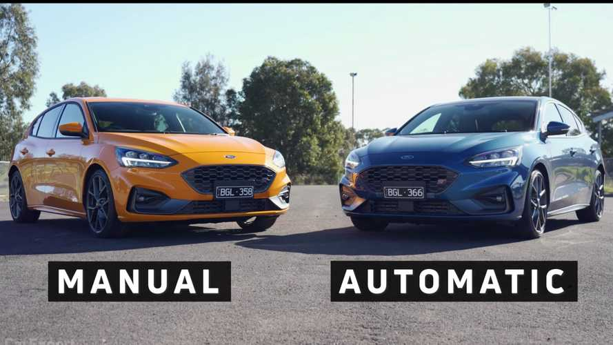 Ford Focus ST Drag Races Focus ST In Manual Vs Auto Gearbox