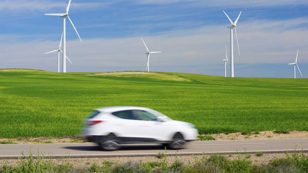 Windmills for electric power production in Aragon Spain