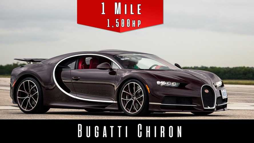 Watch Bugatti Chiron Hit Insane Speeds In One Mile From A Dead Stop