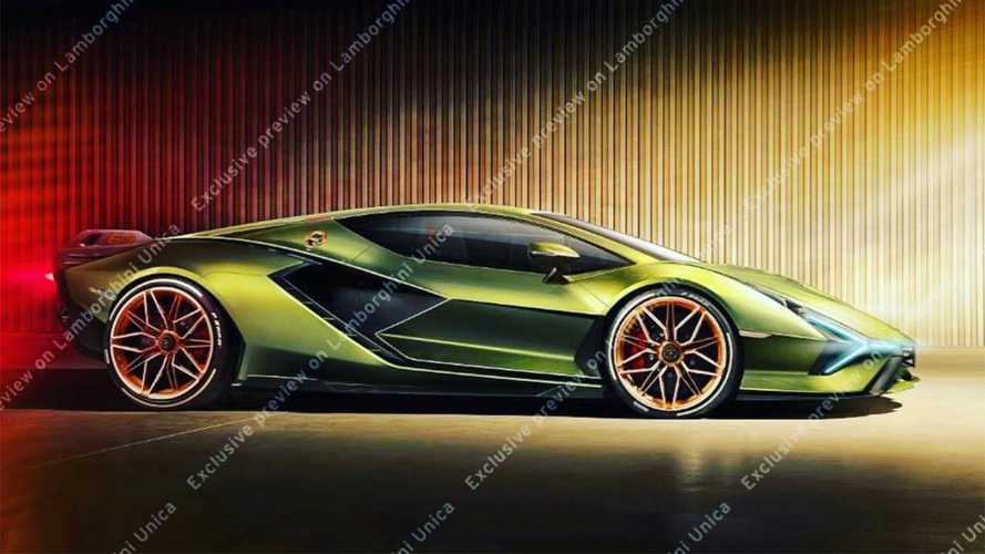 Lamborghini Sian preview image leaked via exclusive app
