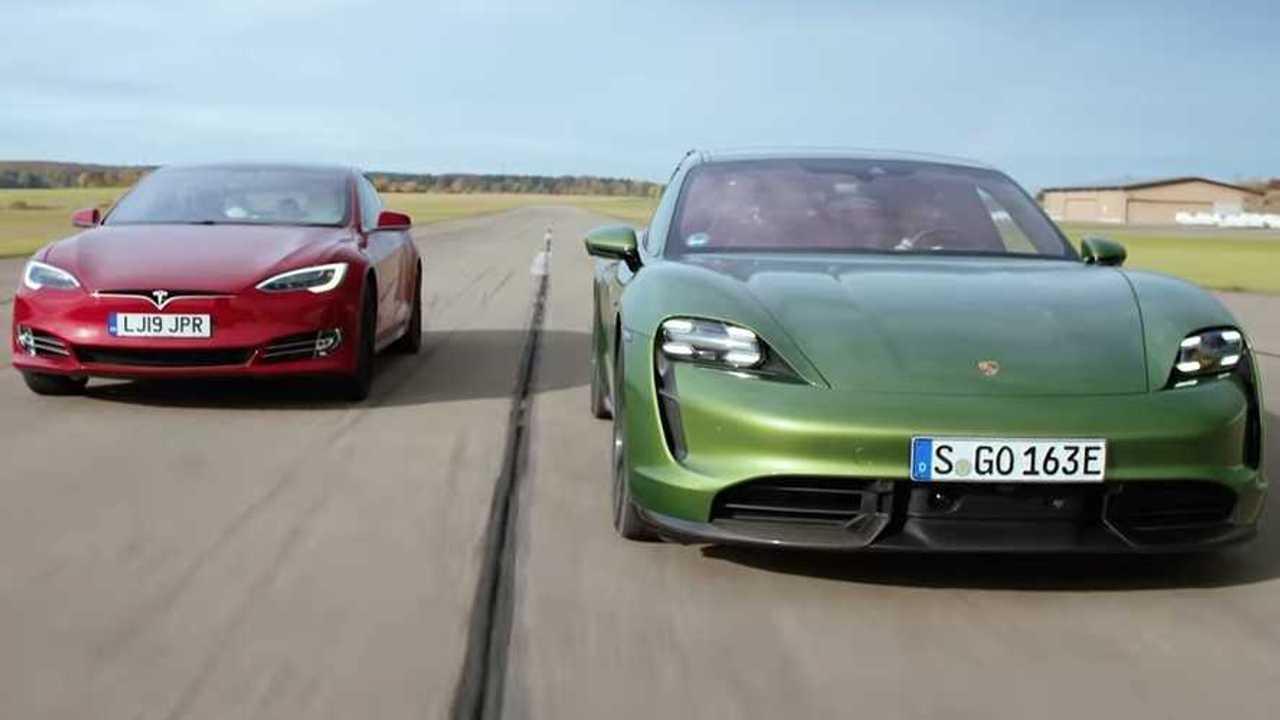 Porsche vs Tesla, la prova