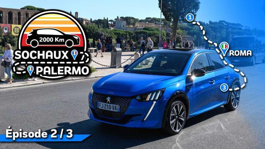 2000 km en Peugeot 208 - Le test urbain dans Rome (2/3)