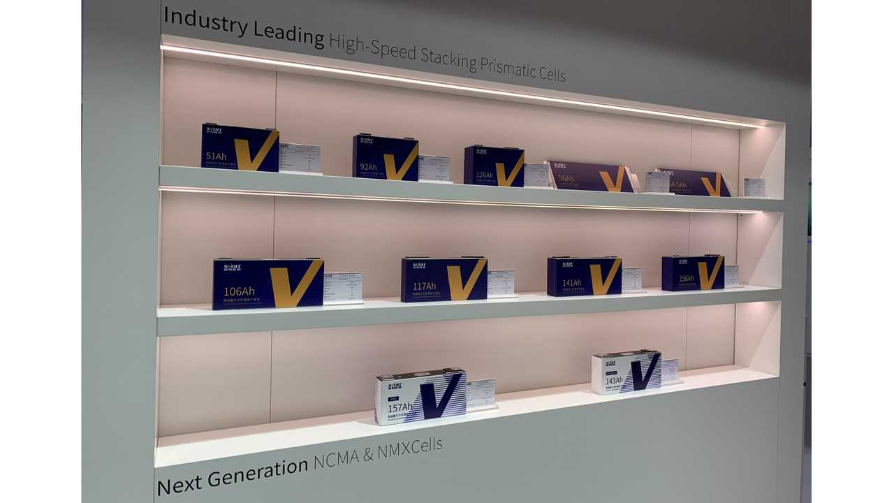 SVOLT Energy unveiled its full range of new lithium-ion battery cells at the 2019 Frankfurt Motor Show