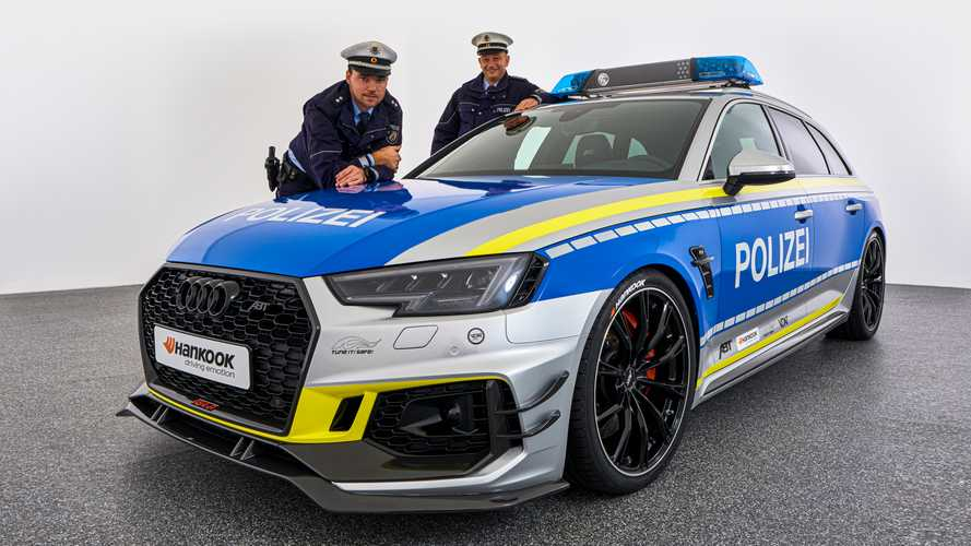 Une Audi RS4-R ABT aux couleurs de la police allemande