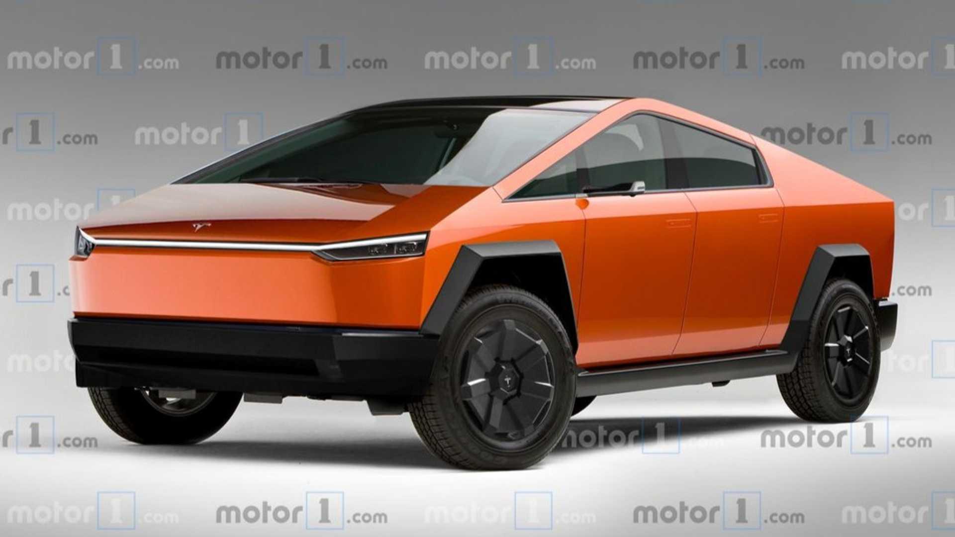 Le Tesla Cybertruck imaginé dans sa version de production