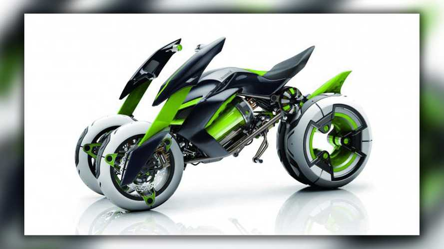 Kawasaki Is Working On A Four-Wheel Motorcycle And We're Confused