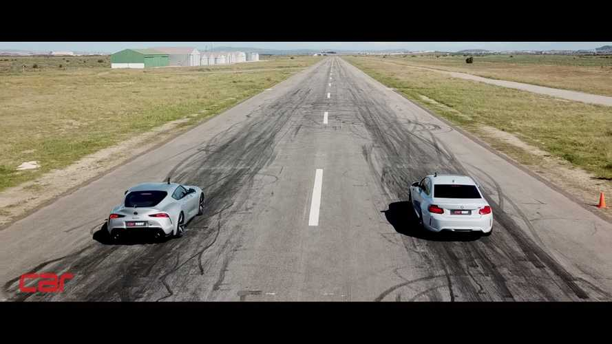 Toyota Supra Tries Again To Beat BMW M2 Competition In Drag Race