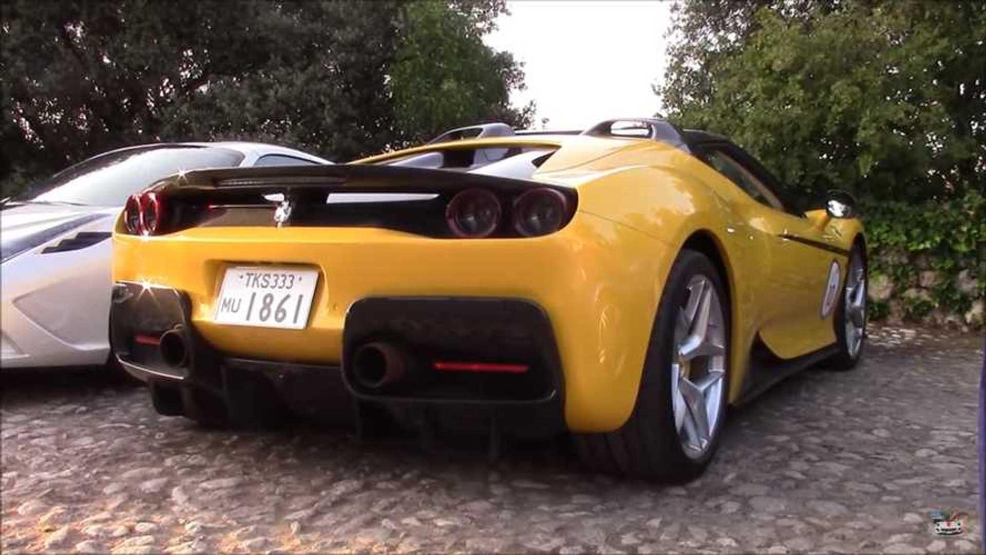 Ferrari J50 shows all its brilliance on video