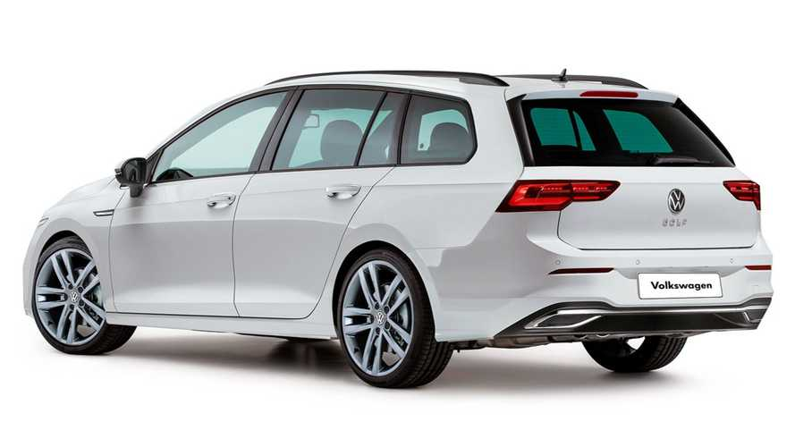 2021 VW Golf estate rendering