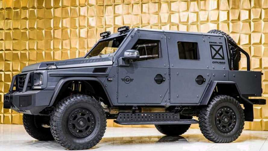 Face the zombie Apocalypse with this armoured Mercedes G500 4x4
