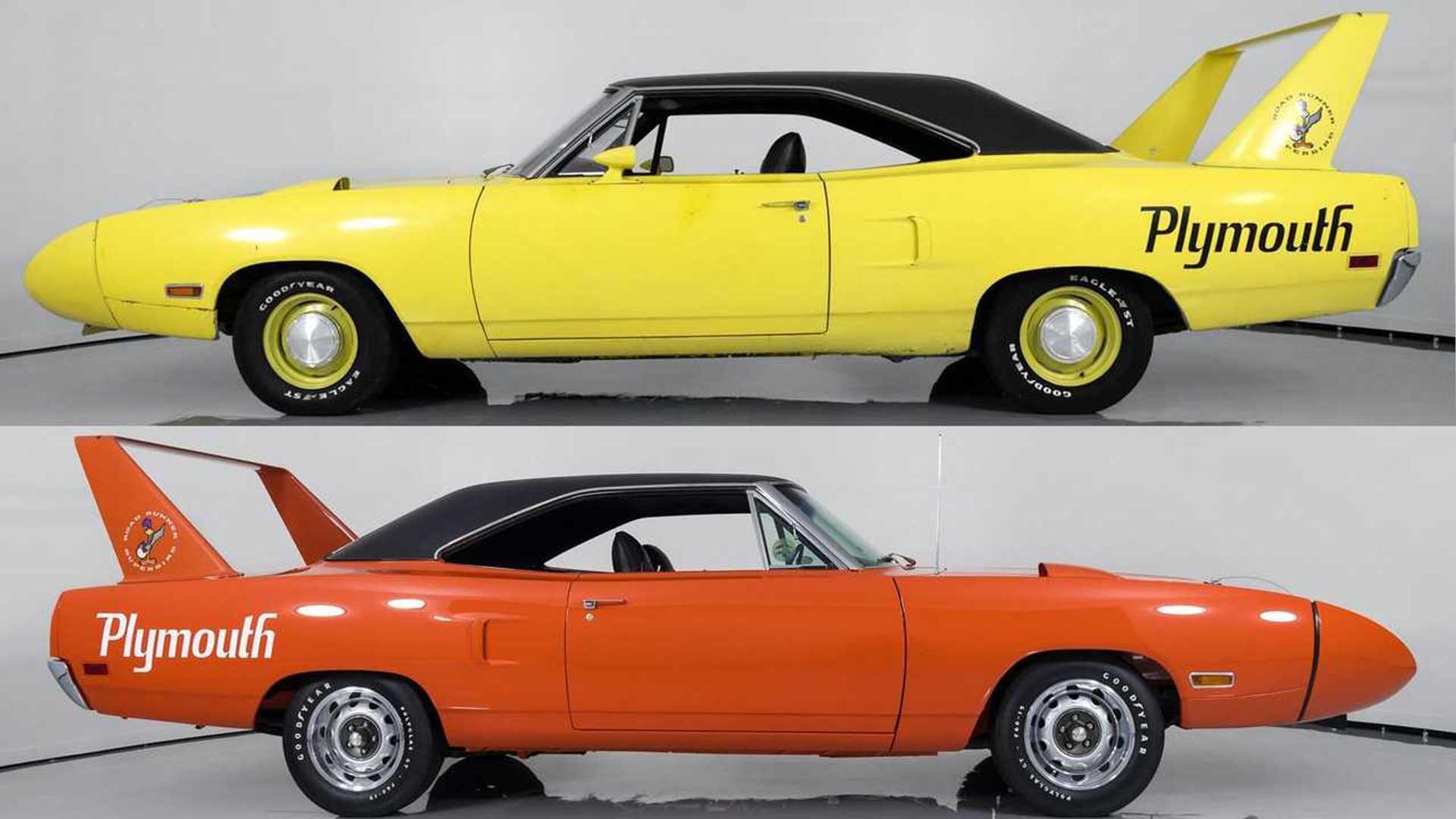 "[""Pair of 1970 Plymouth Superbirds""]"