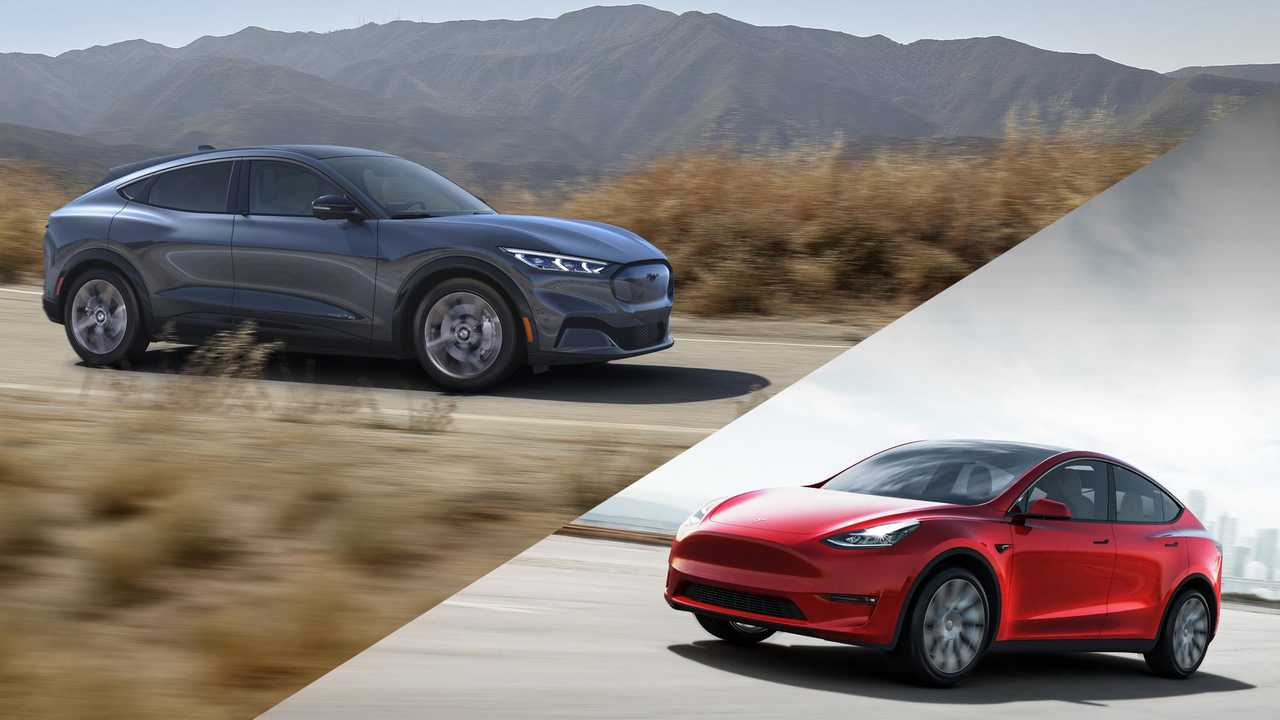 Tesla Model Y Vs Ford Mustang Mach-E: Infographic Comparison