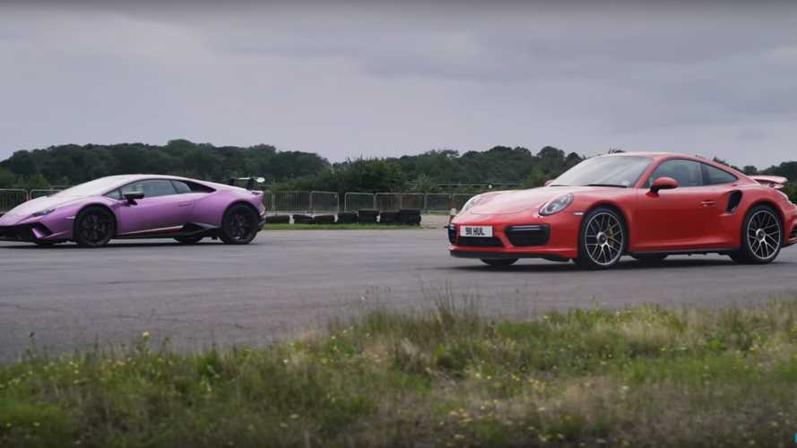 VIDÉO - Lamborghini Huracan Performante vs Porsche 911 Turbo S