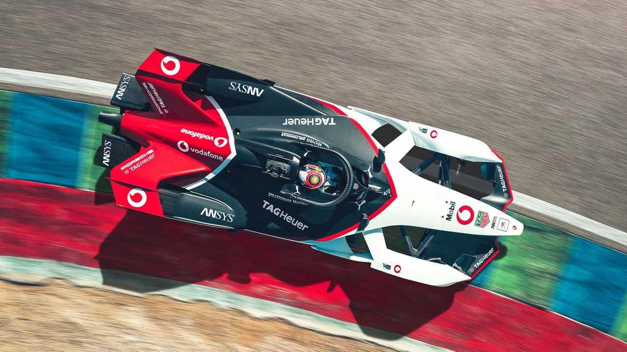 Porsche 99X electric Formula E car