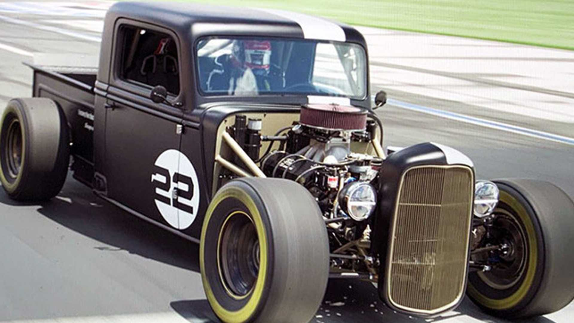 Joey Lagano Drifts The Charlotte Roval In An 800-HP, 1935 Ford Truck