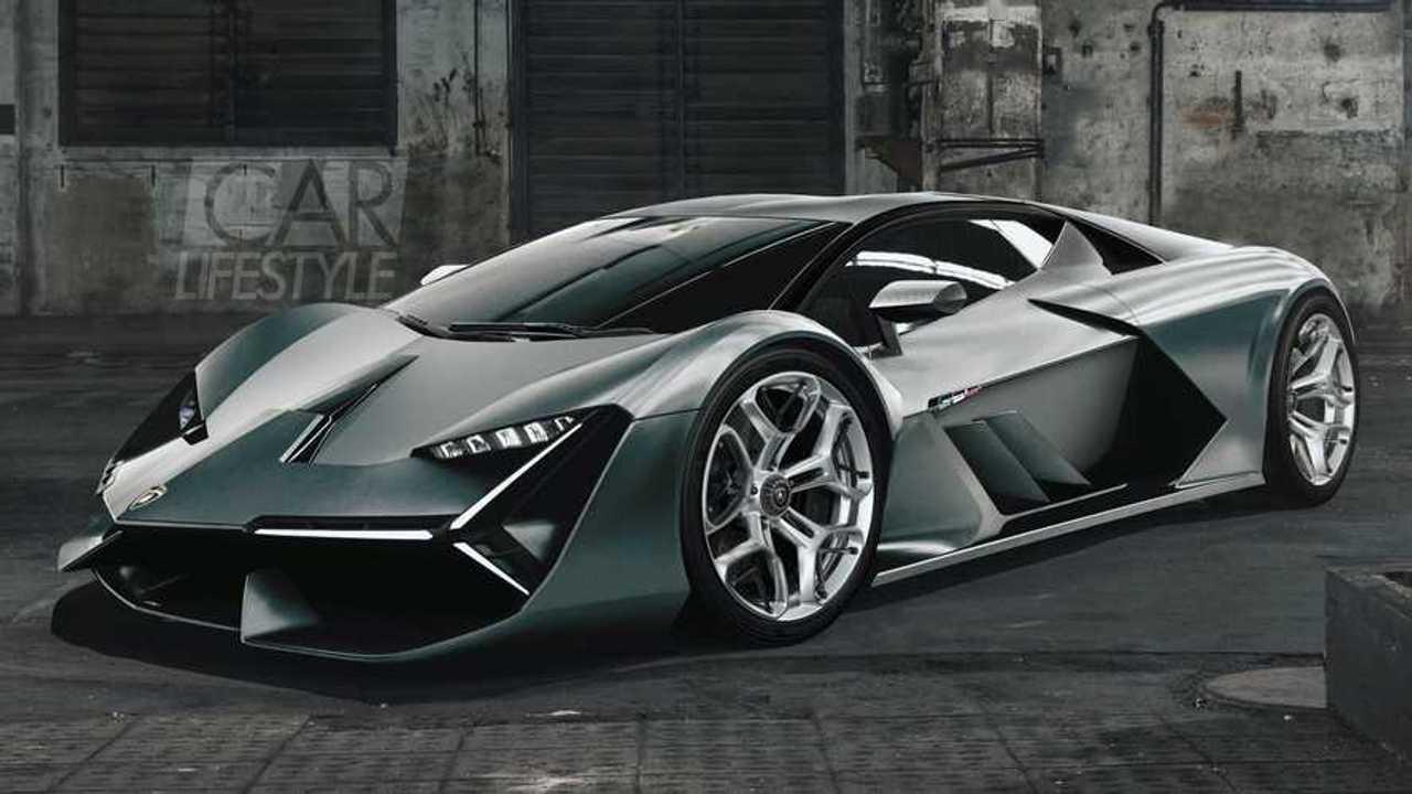 Lamborghini Hypercar Rendering