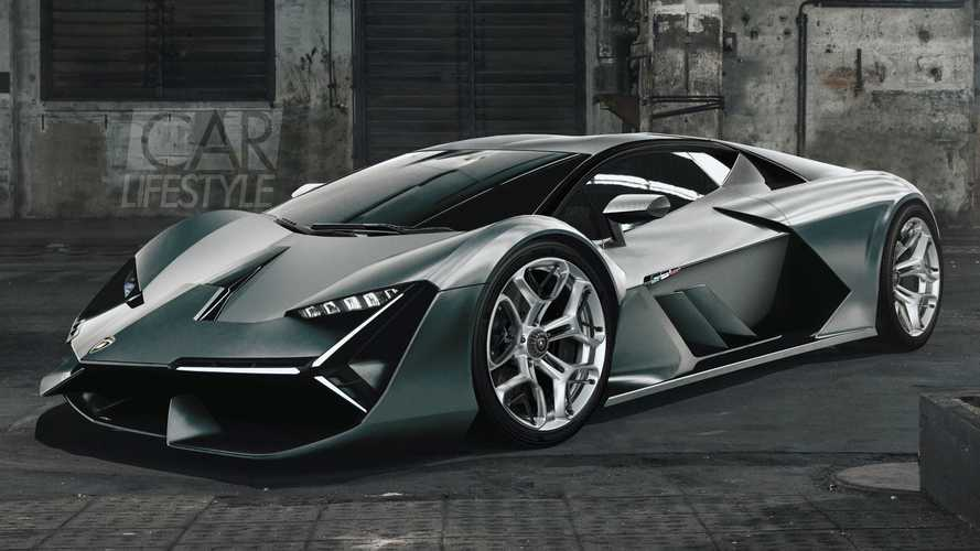 Lamborghini hypercar rendered prior to Frankfurt debut