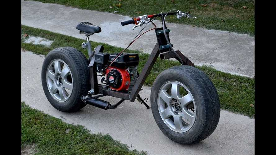 Watch This Guy Build A Bike With What He Had Laying Around The Garage