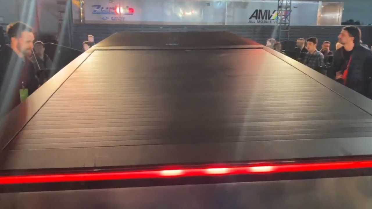 The Tesla Cybertruck Tonneau Cover Is Cool And Strategic At The Same Time