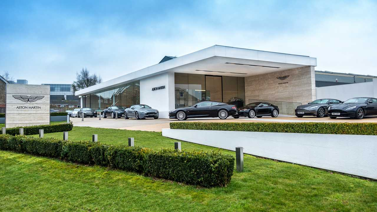 Aston Martin headquarters in Newport Pagnell England