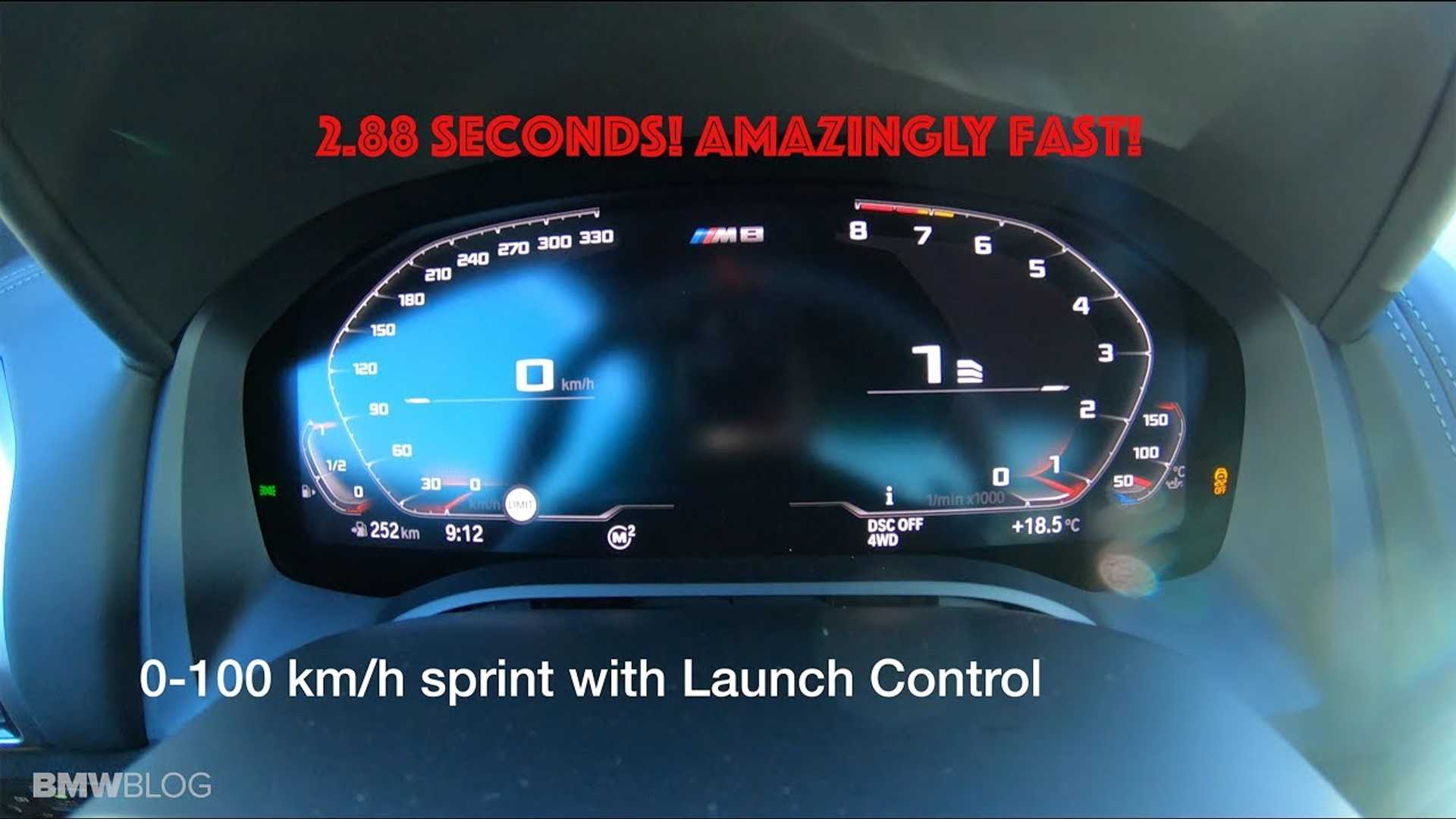 See The BMW M8 Competition Hit 62 MPH In An Impressive 2.8 Seconds
