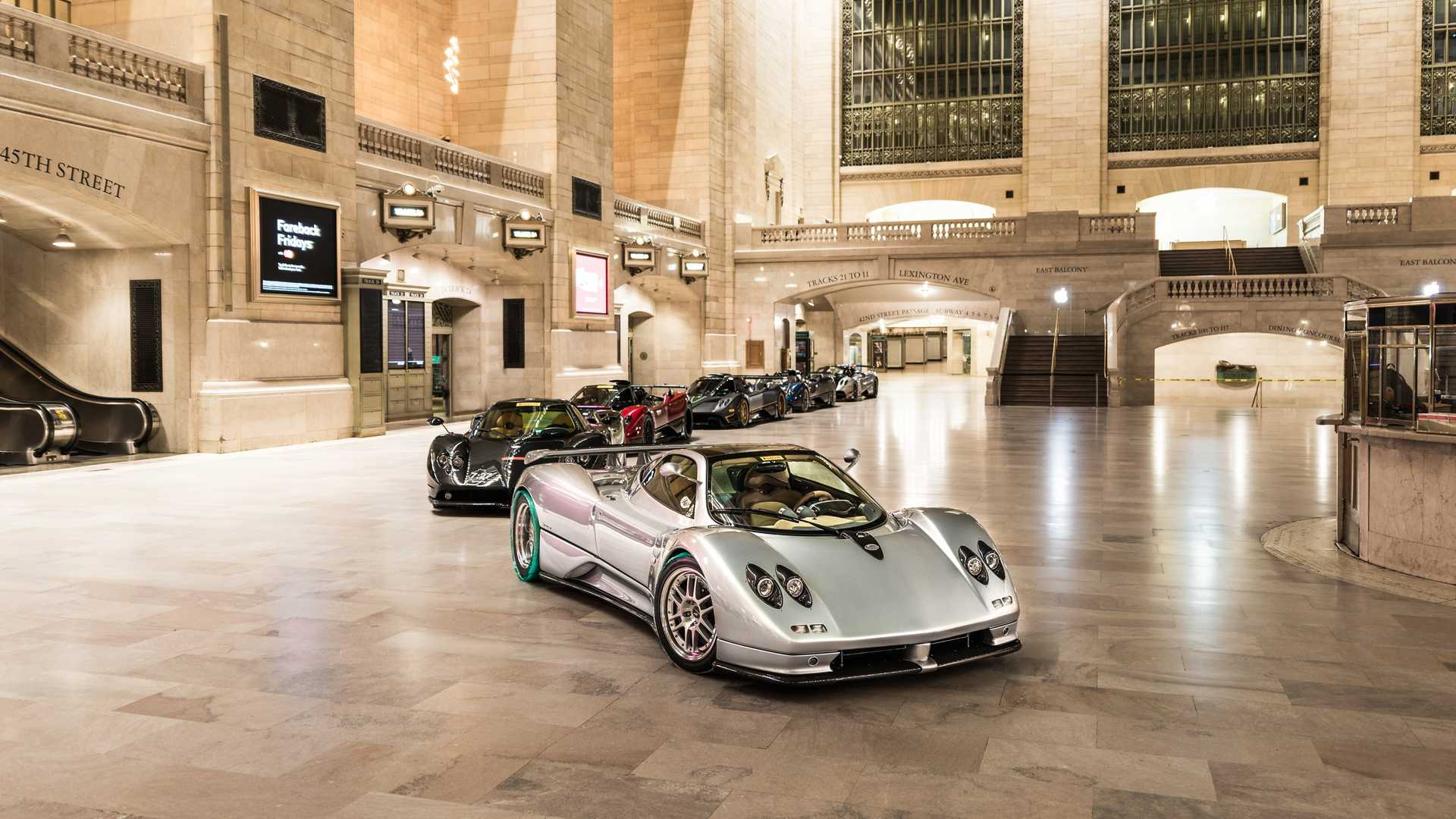 Pagani Takes Over Grand Central Terminal With Five Zondas And A Huayra