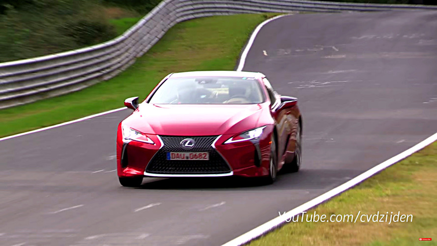 2018 Lexus LC500 Nurburgring video