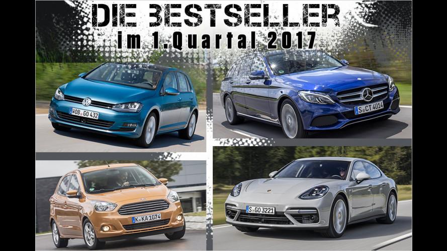 Die beliebtesten Autos der Deutschen im ersten Quartal 2017