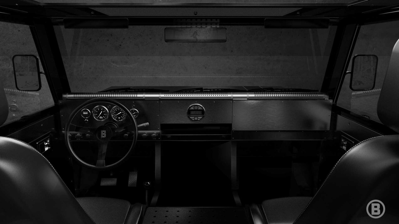 Bollinger electric truck interior