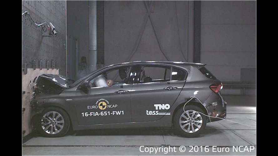 EuroNCAP-Crashtest: Fiat Tipo mit Basisausstattung erhält nur drei Sterne