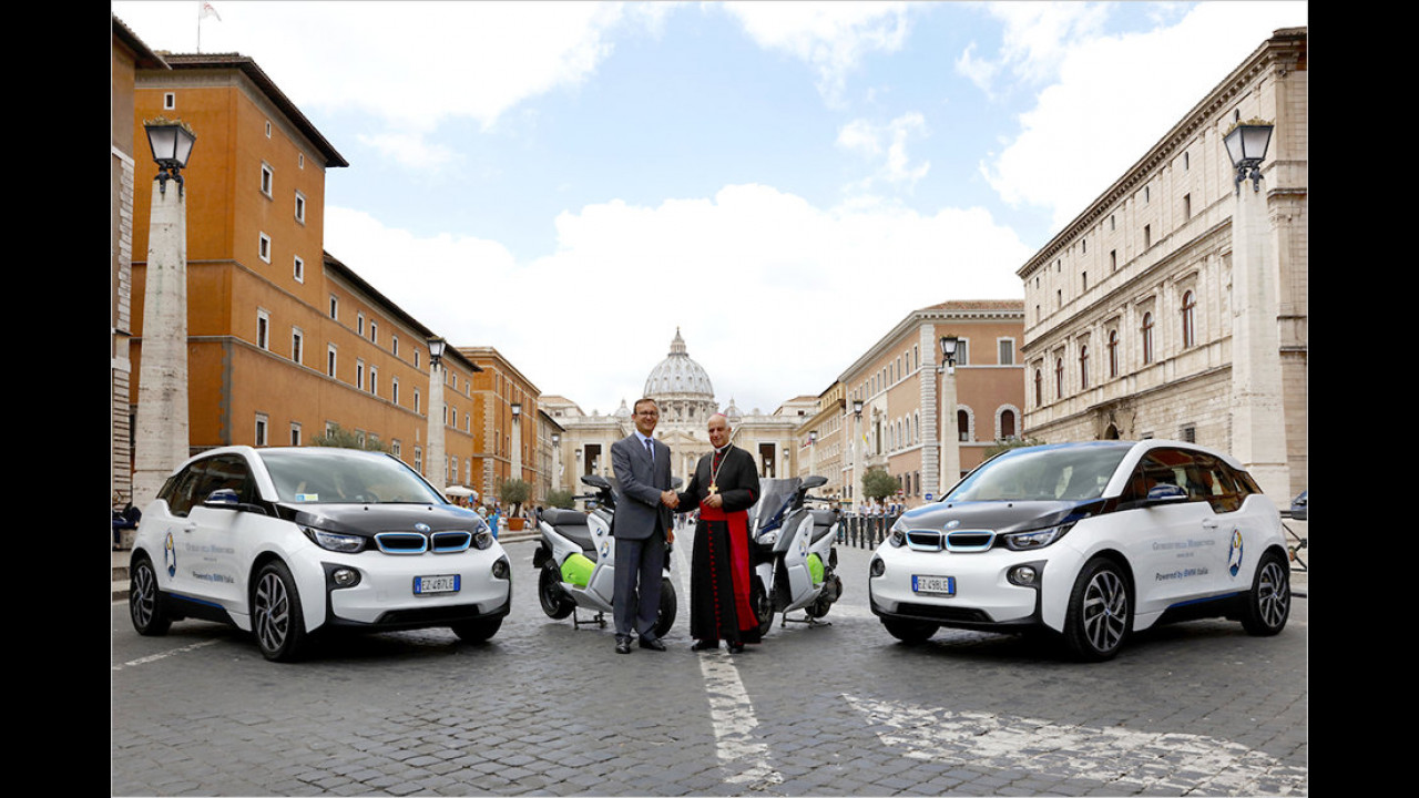BMW-Elektrofahrzeuge für den Vatikan