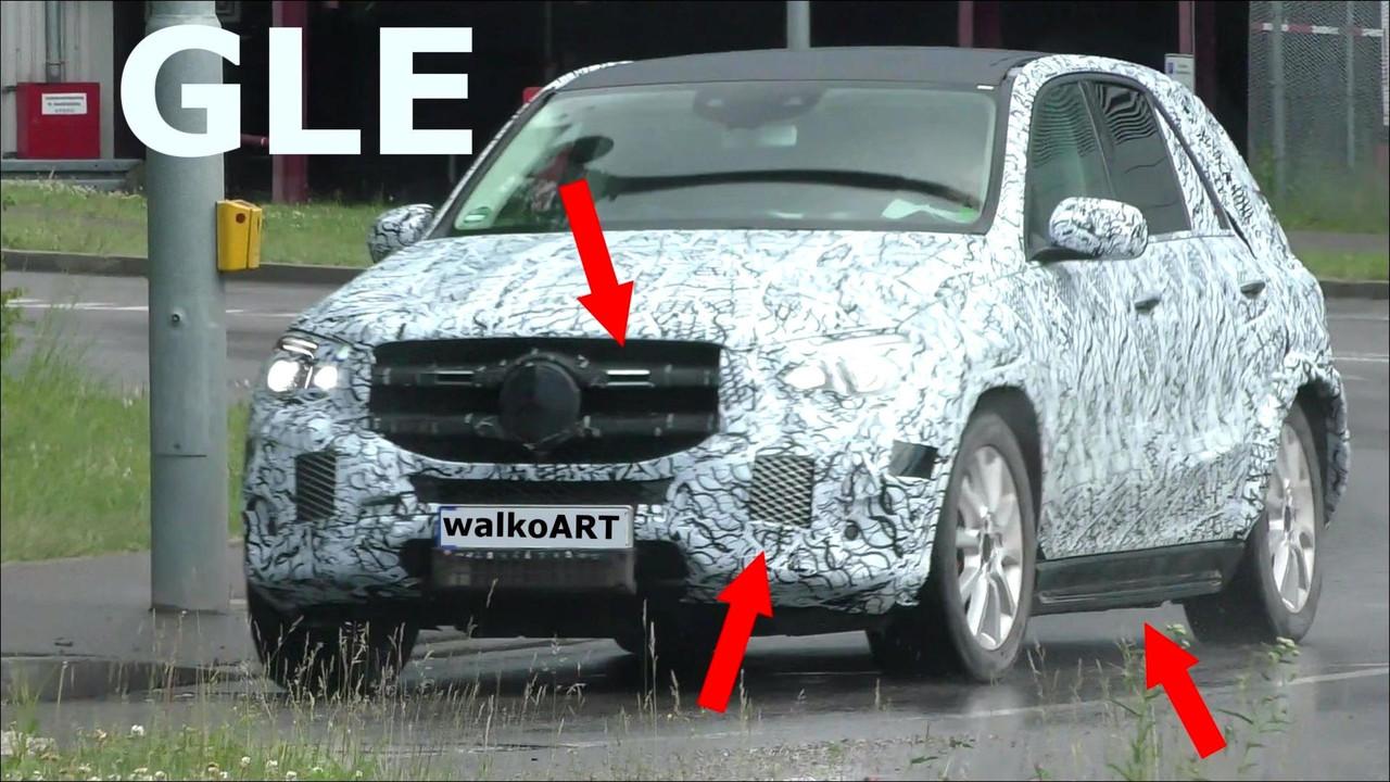 Mercedes-Benz GLE-Serisi casus videosu